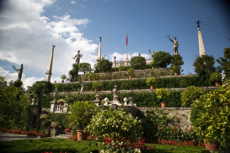 isola: Isola Bella in Lake Maggiore and the Garden sculptures Editorial
