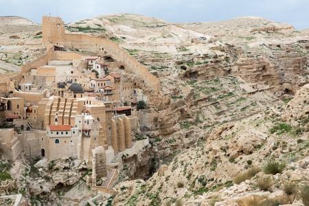 judean: Marsaba monastery in the Judean desert in Israel