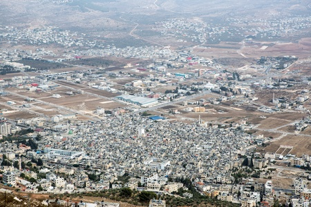 nablus: Shechem (Nablus). View overlooking from mount Gerezim. Editorial