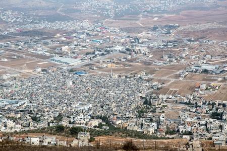 gerezim: Shechem (Nablus). View overlooking from mount Gerezim. Editorial