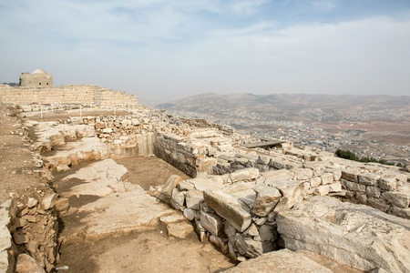Mount Griezim ruins, holy place for the Samaritan community, Israel Stock Photo - 20687471