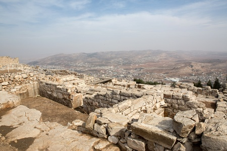 Mount Griezim ruins, holy place for the Samaritan community, Israel Stock Photo - 20687472