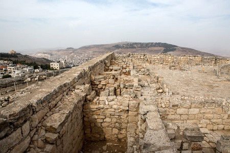 Mount Griezim ruins, holy place for the Samaritan community, Israel Stock Photo - 20687287