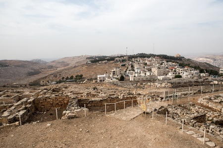 Mount Griezim ruins, holy place for the Samaritan community, Israel Stock Photo - 20687291