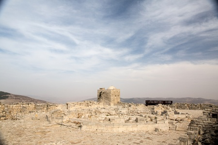 Mount Griezim ruins, holy place for the Samaritan community, Israel Stock Photo - 20687296