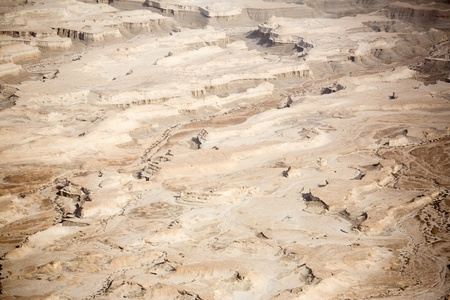 masada: View to the Judean desert from Masada fortress, Israel