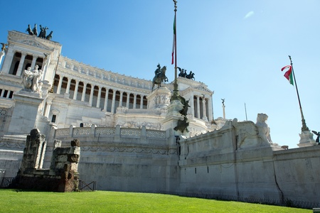 Vittoriano building on the piazza Venezia, Rome, Italy photo