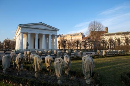Temple of Theseus  in Vienna, Austria at winter photo