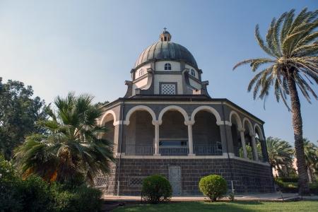 holyland: Chapel on the Mount of Beatitudes, Israel Stock Photo