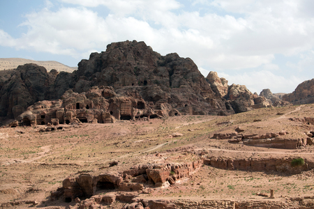 nabataean: View of the Nabataean city Petra, Jordan Stock Photo