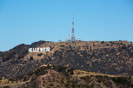 Hollywood sign as seen from the Observatory