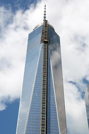 reconstructed: Reconstructed World Trade center building, New York