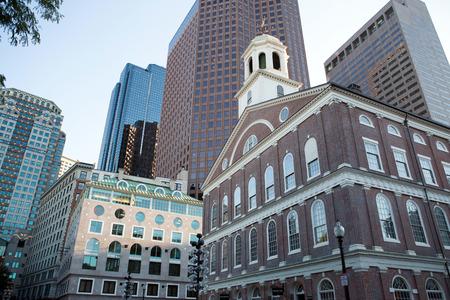 Bostons  Quincy Market  center buildings