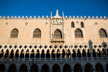 doges: Doges palace building in Venice, Italy at sunrise