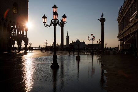 saint marks square: View from Saint Marks square in Venice, Italy Stock Photo