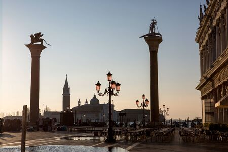 saint mark's square: View from Saint Marks square in Venice, Italy Stock Photo