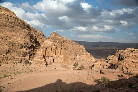 nabataean: The Monastery monument in the old Nabataean city Petra, Jordan
