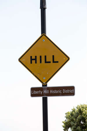 historic district: San Francisco sign of Hill - Liberty hill historic district