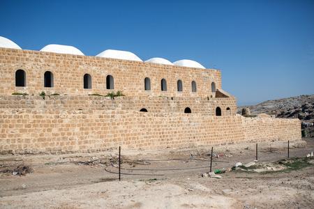 Nabi Musa site in the Judean desert , Israel Stock Photo