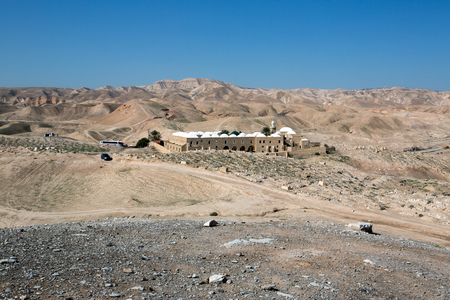 judean desert: Nabi Musa site in the Judean desert , Israel Stock Photo