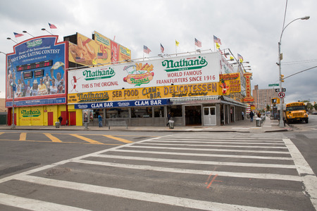 coney: Nathans in the Coney Island, New York