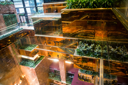 New York City Trump Tower building interior in Manhattan Editorial