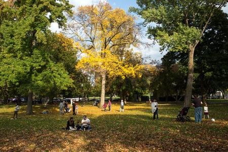 Boson Common public park in the city center