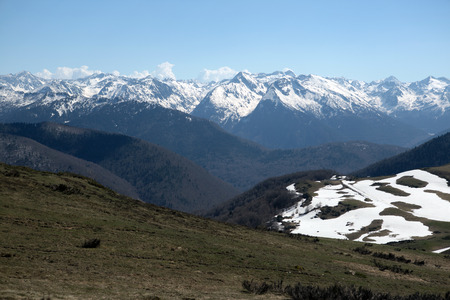 Mountains of French Pyrenees between Ascou and Camurac