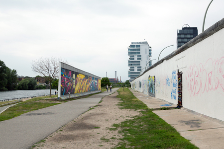 East side Gallery parts of the Wall in Berlin, Germany Stockfoto