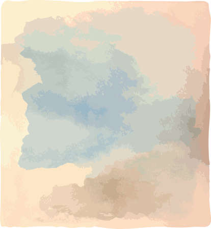 Watercolor background vector. Shades of cloudy sky. Illustration