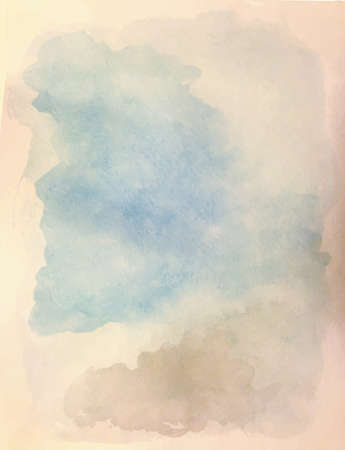 stria: Watercolor background. Shades of cloudy sky.
