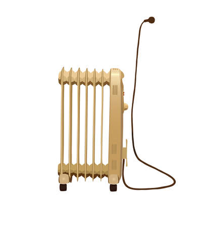 Heater isolated on white background. Illustration.