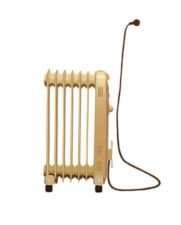 Heater isolated . Eps 8.