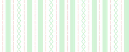 Seamless pattern of broken lines, crosses, and stripes in pastel colors
