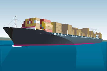 vracht schip Vector Illustratie