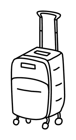 Suitcase doodle drawing Vector illustration Illustration