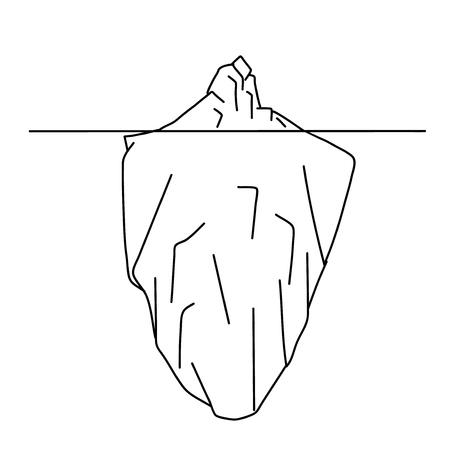 Sketch of iceberg. Vector illustration. Vektoros illusztráció