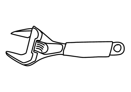 Adjustable wrench vector Ilustrace