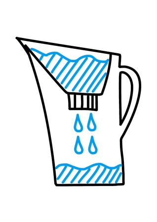 Domestic Water Filter. Vector Illustration