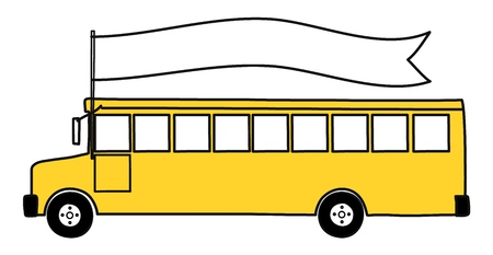 Yellow School Bus. Back to school. Vector illustration