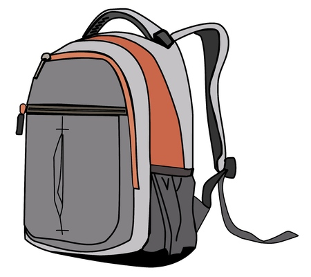 Backpack on white background. Vector Ilustrace