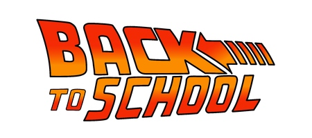 04/25/2019: Back to School Logo. Welcome sign. Vector illustration based on the movie: Back to the Future