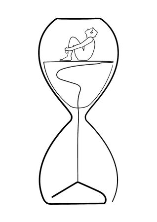 Vector drawing of an hour glass Ilustrace