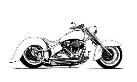 pace: painted the motorcycle black and white