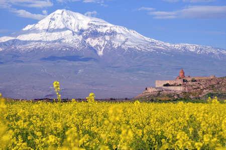 Ararat  in Armenia, near the border with Turkey Stock Photo