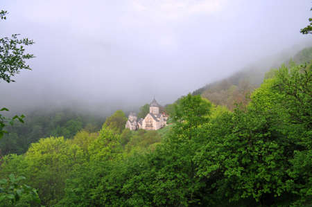 The ancient monastery is located near the town of Dilijan, in a wooded valley  photo