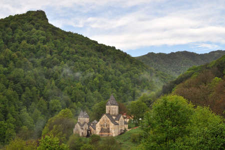The ancient Haghartsin monastery is located near the town of Dilijan, in a wooded valley. photo