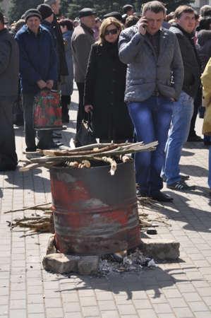 annexation: Separatists meeting in Donetsk  Ukraine
