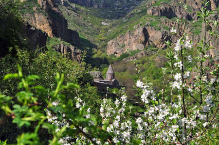 architectural heritage of the world: The monastery of Geghard  is a  architectural construction in the Kotayk province of Armenia. listed as a UNESCO World Heritage Site.