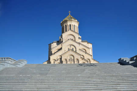 love dome: the main cathedral of the Georgian Orthodox Church located in Tbilisi
